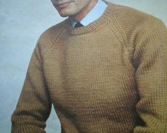 vintage mans sweater pattern