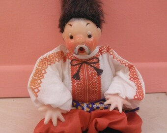 Vintage Russian/Ukrainian Cossack Doll, Taras Bulba, (Chub doll), 1960's