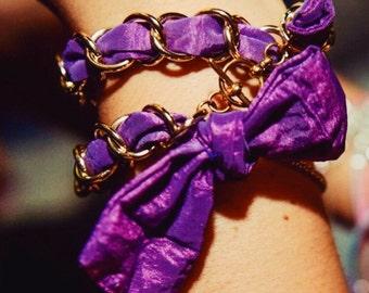 Purple silk bracelet Bludiletta