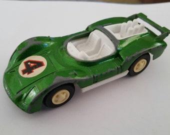 Vintage 1970's Tootsietoy Tough Porsche Can Am race car, #4 Made in USA toy car