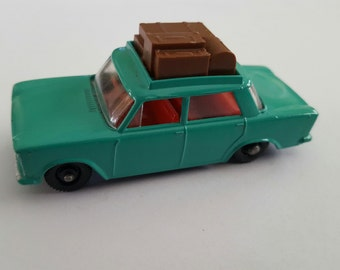 Vintage Matchbox Series No 56 b1 Fiat 1500 with luggage, Made in England by Lesney Condition 9.5