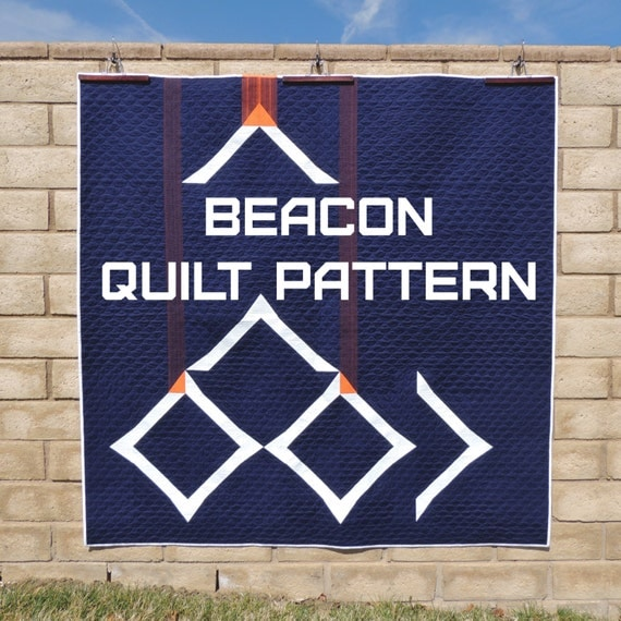 Beacon - a Modern, Minimal Quilt Pattern Digital Download (PDF) by Quilting Jetgirl