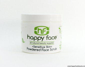 Exfoliating Face Scrub 4 oz - Sensitive Skin -  All Natural (Step 1 of 4)