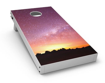 Beautiful Milky Way Sunset - Cornhole Board Skin Kit