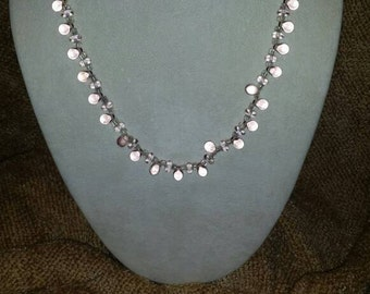 Clear Beaded Necklace Set