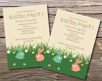 Easter Egg Hunt/Easter Party Invitation/Easter Eggs/DIY Digital Printables/Printable Easter Invitation/Easter Brunch/Digital Printable