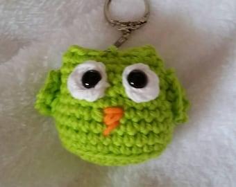 Amigurumi key chain owl