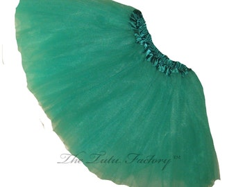 JADE TUTU . Little Girls to Adults Plus SIzes . Ballet Tutu Skirt . Short 11in Length