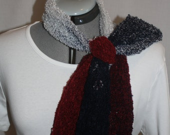 WS1 super soft red,white,and blue scarf with rounded edges