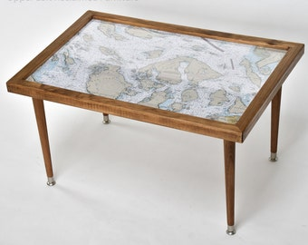 Custom Map Table Chart Table Nautical Or Topographical