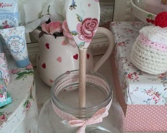 Emma bridgewater rose and bee decorated wooden spoon