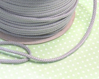 Cotton cord 4mm light grey