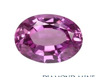 A Beautiful NaturalSapphire 1.07 Purple Oval AA