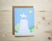 Lee Monument - Notecard - 5x7 - Richmond, VA - Landmark