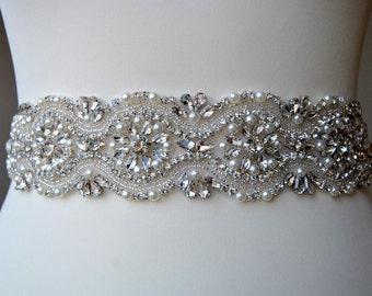 Wedding Bridal Belt Sash Rhinestone Wedding Gown Belt Sash Flower Girl Bridesmaid Gift Sash belt Crystal Dress Sash Belt, Wedding belt sahs