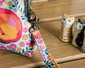 Wristlet strap for coin purse - can be added to most of my coin purses - made using the purse fabric and with a toning colour lobster clasp