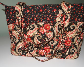 Quilted Tote with Two Coordinating Fabrics