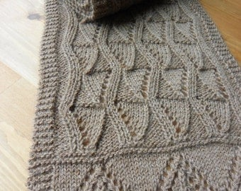 "Pattern to Knit  ""Lancaster"" Lace Scarf DK yarn"