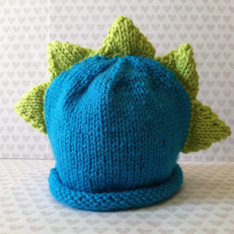 Newborn Dinosaur Hat Knitting Pattern : Dinosaur Knit Hat