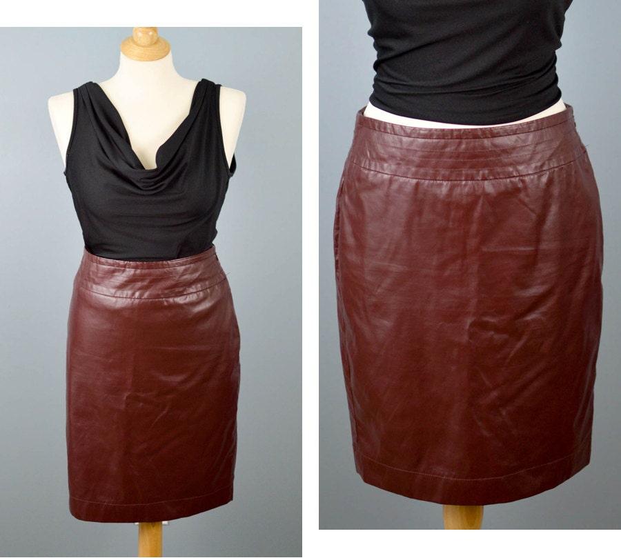 vintage the limited pleather pencil skirt vegan leather