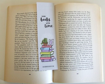 So many books so little time - Grey Bookmark Collection