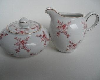 Volkstedt german porcelain set,milk and sugar set,sugar pot and creamer,high quality porcelain,Volkstedt,Vintage milk and sugar