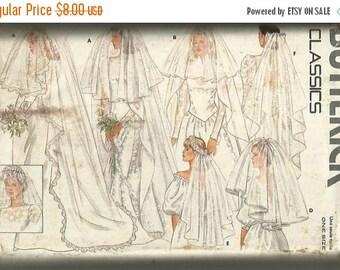 30% OFF SALE 1980s Bridal Veils Butterick 4649 UNCUT