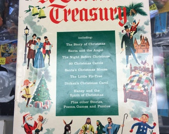A christmas Treasury - No. 1 1954 Golden Age Comic Book Giant Dell Book