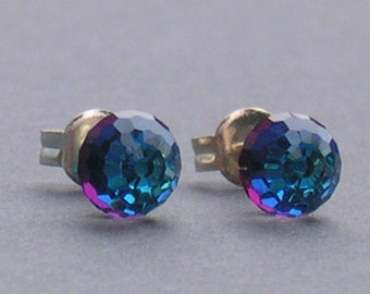 Special Heliotrope 6mm Disco Ball Stud Earrings made with Swarovski Crystal Elements Earrings by Lady C