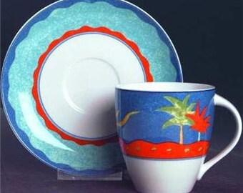 1995 Christopher Stuart Optima Barbados Collectible Cup & Saucer China Set