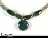 MOSS AGATE NECKLACE - Green Moss Agate Choker for Women