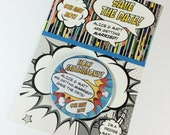 Wedding Save The Date Magnets Comic Book Inspired Design (Complete With Backing Postcard)