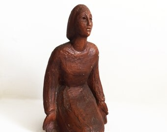 Vintage Woman Tabletop Sculpture Statue
