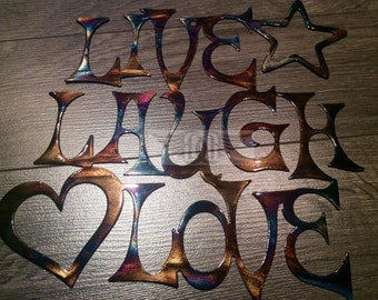 Thank You Gift Heated Steel Live Laugh Love Wall Art