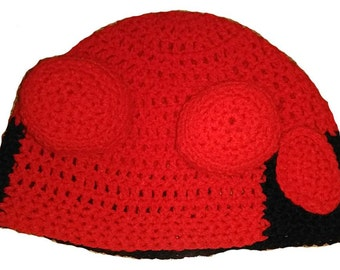 Hellboy Inspired Hand Crocheted Hat
