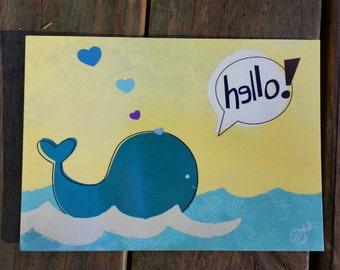 Whale Ocean Postcard