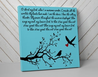 Love Birds, Canvas Wall Art, In Memory Of