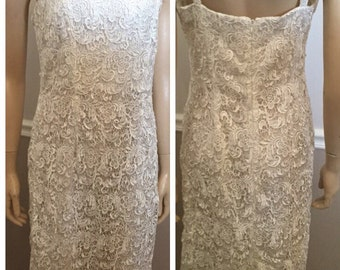 Nina Nischelle White Lace Dress / never worn / wedding / size Medium
