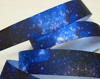 7/8'' -  22 mm Galaxy Grosgrain Ribbon