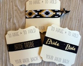 Black Gold--To Have & To Hold Your Hair Back--Bachelorette-Bridesmaids-Wedding-Elastic Hair Ties