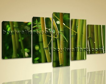 """Large Modern Contemporary Feng Shui Wall Art Hd Print On Canvas Bamboo Picture, Bamboo print,  print, 72""""x40"""""""