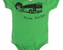 Rosa Parks Back of the Bus Baby Boy or Girl Infant One Piece or Baby Raglan Shirt Made In The USA