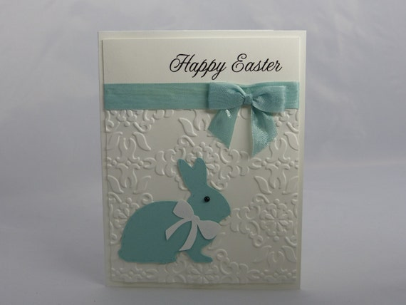 Stampin Up Handmade Greeting Card Happy Easter Card Bunny – Easter Cards Stampin Up