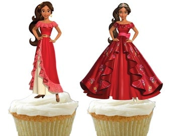24 Elena of Avalor Cupcake Toppers