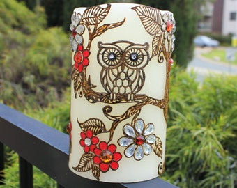 OWL is Well!! Handmade Henna Candle (Flameless)