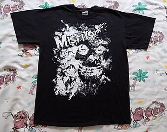 Misfits Crimson Ghost splatter T shirt, size Medium punk Danzig iconic