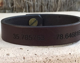 FREE SHIPPING-Personalized Leather Bracelet,Personalized Men Wrist band,Custom Leather Bracelet,Mens Leather Bracelet,Bracelets for Men