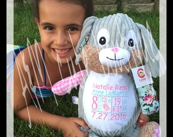 Personalized bunny stuffed animal
