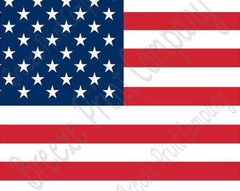American flag print craft  vinyl sheet - HTV or Adhesive Vinyl -    HTV3