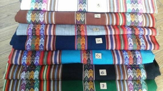 Peruvian Fabric by the metre - SMALL orders - shipped from UK